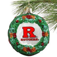 Rutgers Scarlet Knights 3.25'' Glass Wreath Ornament - $11.99