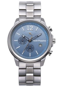 Hush Puppies Orbz Men's Automatic Watch with Blue Dial Analogue Display and Silver Stainless Steel Bracelet HP.6065M.1.1503: Amazon.co.uk: W...