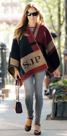 Look of the Day - September 20, 2014 - Sarah Jessica Parker in Burberry Prorsum from #InStyle
