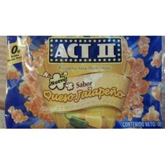 Act II Microwave Popcorn Queso Jalapeno 95g (Pack of 6)
