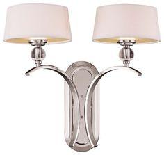 Savoy House Murren Bathroom Lighting Fixture in Polished Nickel eclectic-bathroom-vanity-lighting