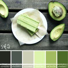 avocado ice pops color palette