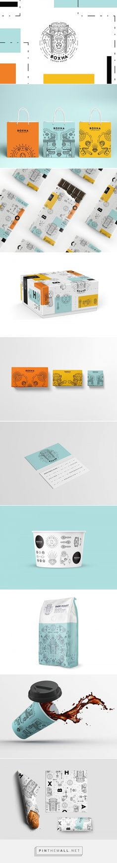 Boxha Coffee House packaging design by Eme Design Studio - https://www.packagingoftheworld.com/2018/04/boxha-coffee-house.html