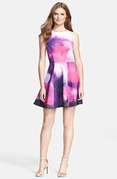 I want it NOW. Ted Baker London 'Summer at Dusk' Print Jersey Skater Dress