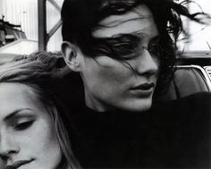 Amber Valletta and Shalom Harlow photographed by Craig McDean for W