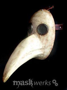 Plague Doctor mask by Maskwerks Plague Mask, Plague Doctor Mask, C And C Machine, Lens And Frames, Paper Mache Mask, Halloween Disfraces, Vintage Photos, Masks, Masquerade