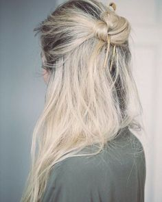 half up messy knot