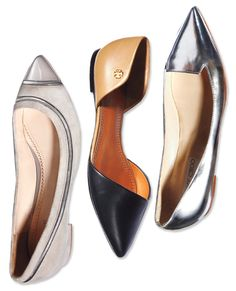 Your Springtime Wardrobe All-Stars - Pointy Flats from #InStyle