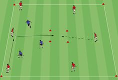 Find the final pass is a great possession game to teach offensive players to be patient and keep the ball until an opportunity arises.