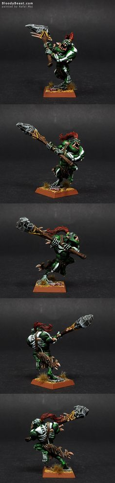 Savage Orc Warboss painted by Rafal Maj (BloodyBeast.com)