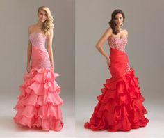 2013 Style Trumpet / Mermaid Sweetheart Beading / Sequins Sleeveless Floor-length Organza Red Prom Dress #ShopSimple
