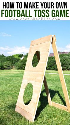 How to build a cornhole toss cornhole tossed and gardens backyard games learn how to build this diy football toss game following this simple tutorial a perfect fathers day gift idea cherished bliss solutioingenieria Choice Image
