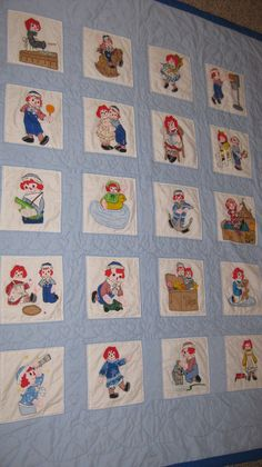 Raggedy Ann and Andy Quilt Grandma and I made
