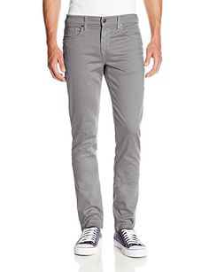 Joe's Jeans Men's Slim Fit Colored Jean, Platinum, 36x34