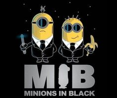 Funny pictures about Minions in Black. Oh, and cool pics about Minions in Black. Also, Minions in Black. Amor Minions, Minions Despicable Me, My Minion, Minions Quotes, Minions 2014, Funny Minion, Minions Pics, Minion Stuff, Minion Banana