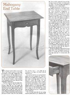 Mahogany End Table Plan - Furniture Plans