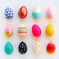 """You may remember this dozen of Blank Goods decorated beauties from last Easter? Sooooo... this weekend I'll be working on a 2015 series of eggs - stay…"""