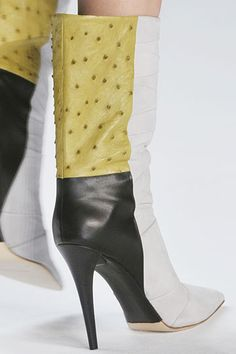 Narciso Rodriguez High Heeled Patchwork Boots Fall Winter 2012 #Shoes #Heels