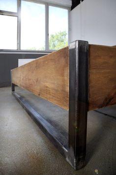 Bauholz Bett Verdon Eisenfüße 160x200cm | Etsy