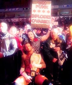 cm punk explodes ovaries  Yes he does..