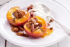 Roasted apples with honey nut. #fall #desserts #Thanksgiving