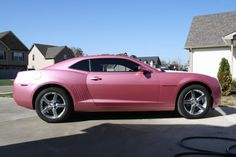 pink chevrolet camaro