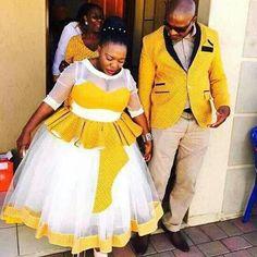 shweshwe dresses 2016 Archives - Page 2 of 14 - style you 7 African Dresses For Women, African Attire, African Wear, African Fashion Dresses, African Women, African Clothes, African Style, African Beauty, Traditional Wedding Attire
