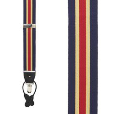 Red Mens Diamond Suspenders for pants trousers Made in the USA Blue Navy