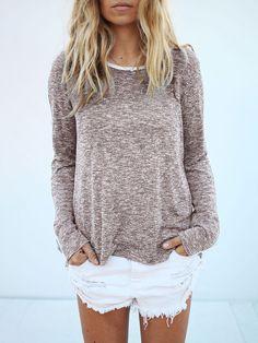 967f407d1931 Shop Plus-Size Clothing Plus Size High-Low Hem T-shirt White Denim