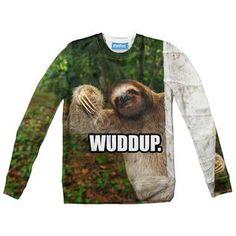 How's it hangin'? Sloth, Sweatshirts, Bro, Fabric, Sweaters, Tejido, Pullover, Sweater, Plush
