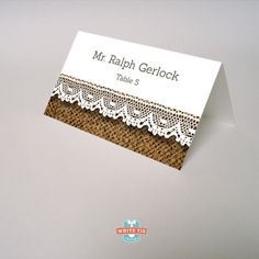 Rustic Wedding Place Card  Wedding Place Cards  by WhiteTieDesigns, $1.50