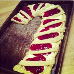 I wanted to make Jessica's beautiful Candy Cane Coffee Cake  as a special St. Nicholas Day treat this year but also had some crescent r...