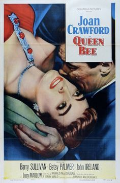 """""""QUEEN BEE"""" (1955) Joan Crawford, Barry Sullivan, Betsy Palmer, John Ireland, and Lucy Marlow"""