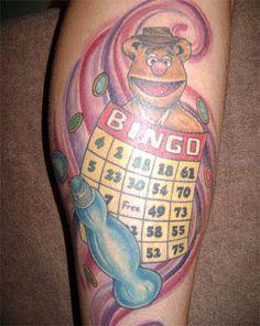 #bingo tattoo with Fozzy Bear.