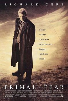 """""""Primal Fear""""--Gere Is The High-Price Attorney & Edward Norton the Cagey Defendant...Is He Guilty...You Only Know For Sure In the Last Scene...Great, Great Film!!  Bought It, Loved It So Much!!"""