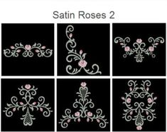 Jacobean Bloom Flowers Machine Embroidery Designs Pack от embhome