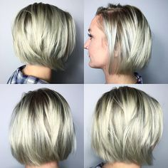 short blonde bob hairstyle for fine hair 2017
