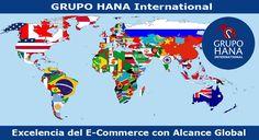 """GRUPO HANA International forma parte de """"GRUPO HANA"""", el grupo empresarial que lidera los servicios profesionales de E-Commerce a nivel global, en países de habla hispana y de habla inglesa."""