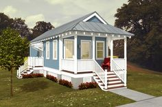 Plan #514-6 Katrina Cottage designed by Marianne Cusato