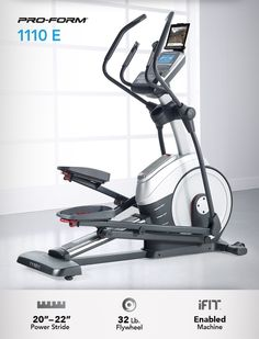 Reach your fitness objectives quickly and efficiently with the ProForm® 1110 E Elliptical. #Fitness