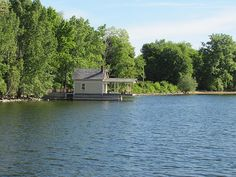 Rosslyn dockhouse by Kathryn Cramer Lake Champlain, Boathouse, 19th Century, River, Architecture, Outdoor, Landscape Rake, Arquitetura, Outdoors