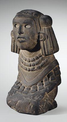 CHALCHIUHTLICUE, DÉESSE DE L'EAU CULTURE AZTÈQUE VALLÉE DE MEXICO, MEXIQUE 1300-1521 AP. J.-C.