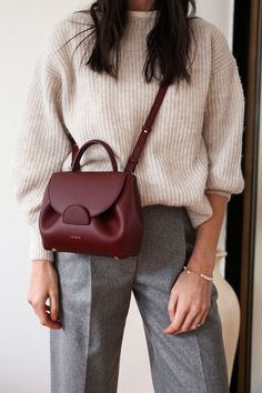 Polene Number One Nano Bag Review | Mademoiselle | A Minimalist Fashion Blog Nano Bag, Boyish Style, Monochrome Outfit, New Mums, Comme Des Garcons, Bago, Cloth Bags, Smooth Leather, My Wardrobe