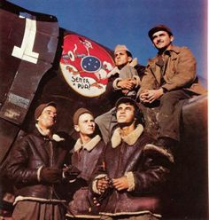 1944, aviadores brasileiros combatendo na Itália.