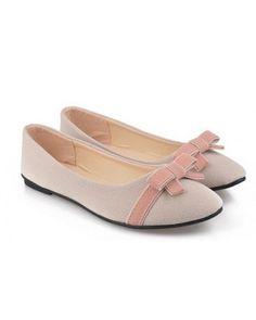 Flats Shoes Nubuck Leather Flock Women Shose