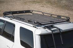 Custom Roof Rack built by Stellar Built in Sacramento, CA, Toyota Fabrication Expert in Sacramento and San Francisco, CA - Nothern California Van Conversion Solar, Camper Van Conversion Diy, 4runner Accessories, Truck Accessories, Truck Roof Rack, Roof Racks For Trucks, Sidekick Suzuki, Motorhome, Toyota Surf