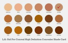 la girl pro concealer swatches - Google Search
