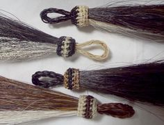 Horse hair two-toned tassel designed by Knotatail.com The tassel is from http://knot-a-tail.com/catalog/16  #horsehair tassels