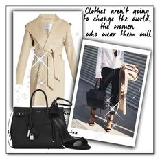 """""""Bez naslova #15"""" by jasna91 ❤ liked on Polyvore featuring MaxMara, Yves Saint Laurent and Alexander Wang"""