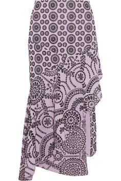 Lilac and black broderie anglaise cotton  Concealed zip fastening along side 100% cotton Dry clean Imported